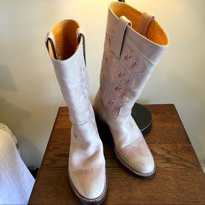 Frye Austin Lilac Cut Out Cowboy Cowgirl Boots